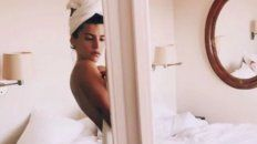 calu rivero publico una foto desde la ducha, conectada con su intimidad y su nina interior