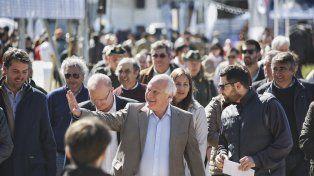 El gobernador Miguel Lifschitzencabezó hoy el acto oficial de la 73ª Expo Rural de San Justo.