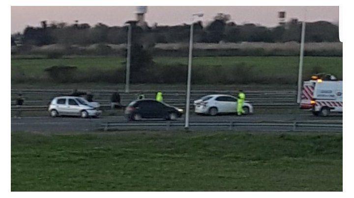 Un choque en cadena con cuatro vehículos en la autopista a Córdoba generó largas demoras