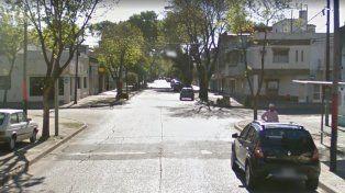 La calle donde ocurrió el incendio.