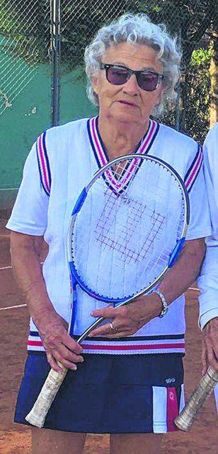 Más 85.Eda Cambiano durante el Sudamericano de veteranas que se jugó en mayo en Rosario.