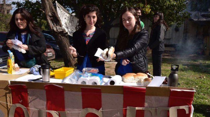 La protesta del Conicet fue en Ocampo y Esmeralda.