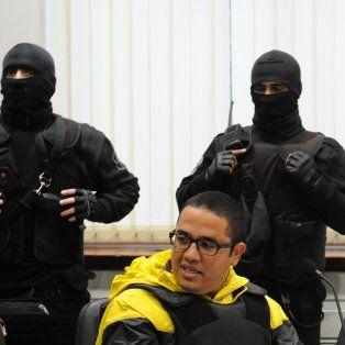 Ariel Máximo Cantero, alias GUille, durante una audiencia imputativa en Tribunales.