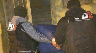 El tuerto, detenido anoche en Villa Gobernador Gálvez.