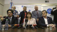 ministros. Garavano, Bullrich y Avruj, tras una reunión con organismos.