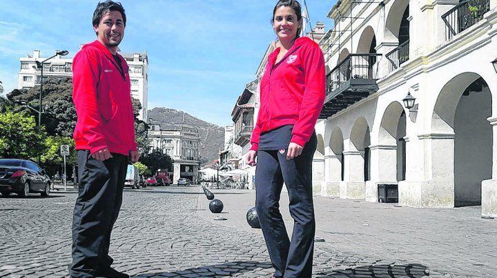 En Salta. Facundo Basterra y Agustina Bouza