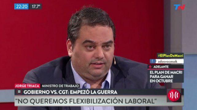 Para nosotros la reforma de Brasil no es un espejo para la Argentina, dijo Triaca