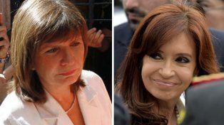 Contrapunto entre la ex presidenta y la ministra Bullrich