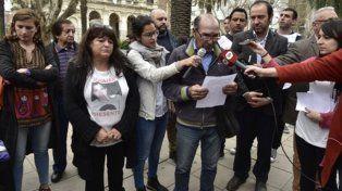 pedido. El papá de Franco vino de Buenos Aires para encabezar el reclamo y leyó el comunicado de la Multisectorial.