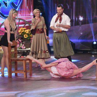 un desafio de contorsionismo en la pista del bailando termino con una bailarina sin corpino