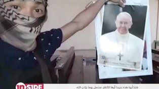 el isis publico un video en el que amenaza de manera directa al papa francisco