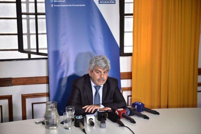 Baclini durante la conferencia de prensa de esta mañana.