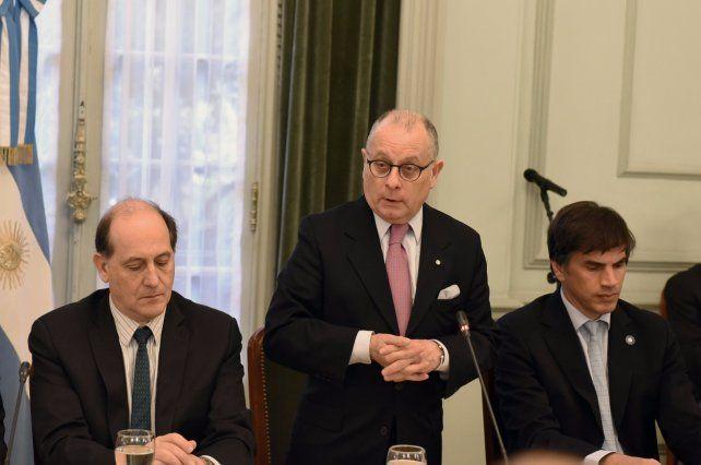 El canciller Jorge Faurie presidió la reunión este mediodía en el Palacio San Martín.