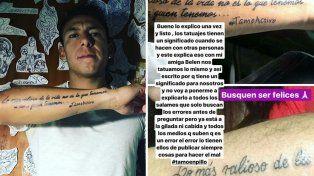 Si no. Brian Sarmiento se manifestó en las redes sobre su tatuaje