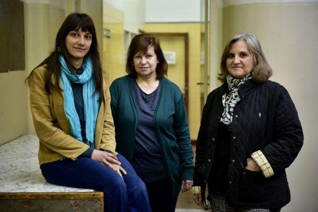 Las profesoras Evangelina Corradi