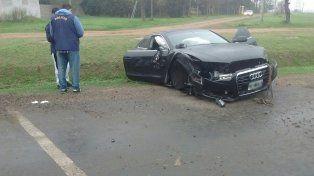 El Audi de Matías Messi chocó contra un camión en la ruta 21.