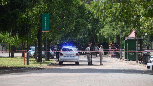 El choque se produjo en el interior del parque Independencia.
