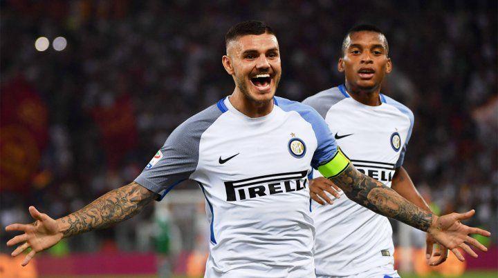 El artillero. Otro doblete de Mauro Icardi para el triunfo de Inter