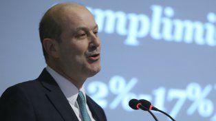 Firme. El presidente del BCRA mantiene alto el nivel de tasas de corto y largo plazo.