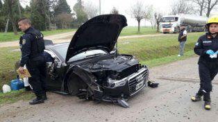 Destrozado. Así quedó el Audi A5 que conducía Matías Messi.