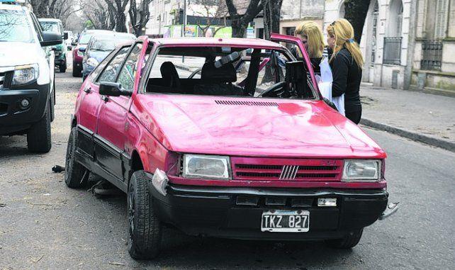 fatal. Así quedó el auto de Muñoz producto del brutal choque.