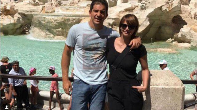 Amalia Granata y su pareja