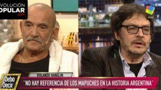 El periodista y el historiador mostraron distintos puntos de vista sobre el conflicto mapuche en el programa Debo decir.