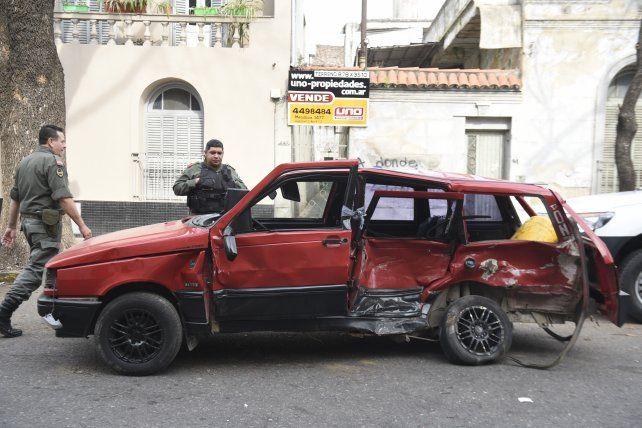 El Fiat Duna que conducía Andrés Muñoz