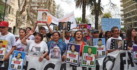 marcha. Familiares de víctimas de la violencia institucional pidieron justicia.