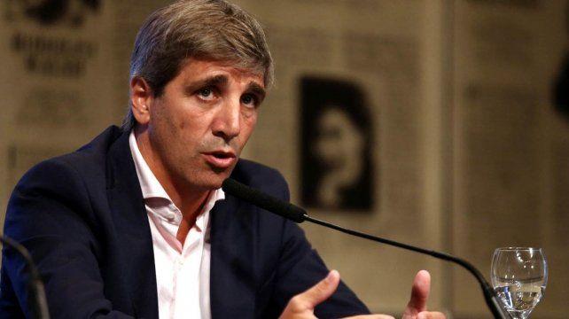 El ministro de Finanzas disertó ante empresarios.
