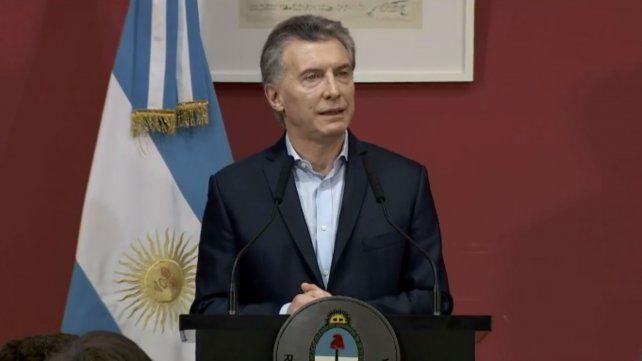 El presidente Mauricio Macri durante su encuentro con empresarios biotecnológicos en Casa Rosada.