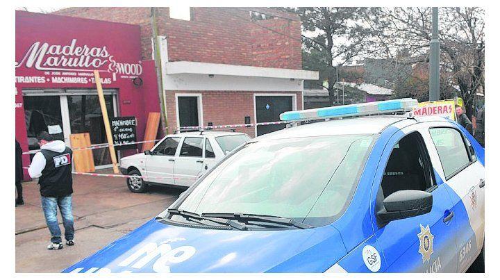 golpe. El asalto ocurrió en el local de Jorge Newbery al 8100