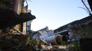 escombros. Así quedó el laboratorio de Alem al 2900 tras la explosión.
