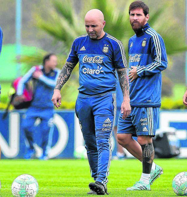 Protagonistas.El Zurdo Sampaoli y Messi juntan sus caminos para llegar al Mundial de Rusia.