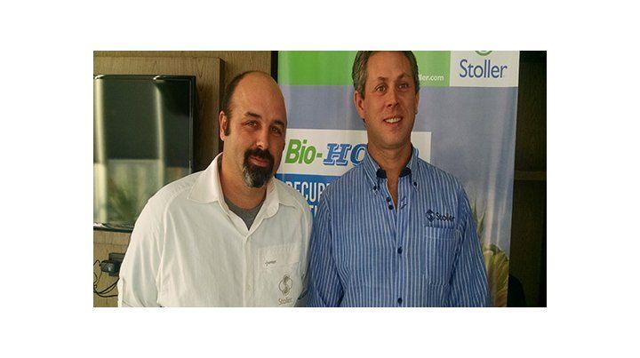 Rod Jarek y Jorge Escalante (Stoller). Hay fertilizantes que estimulan el crecimiento y desarrollo de los cultivos bajo condiciones de estrés.