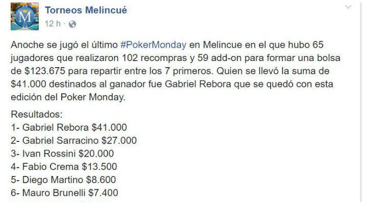 El presidente comunal de Melincué ganó un torneo de póker y generó la polémica
