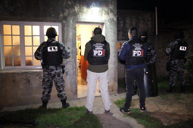 Detienen a seis personas y secuestran drogas tras una serie de allanamientos en Rafaela