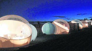 Fascinante. Las diez habitaciones-burbujas han sido diseñadas para tener una vista privilegiada del cielo estrellado.