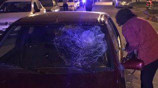 El auto implicado. El hecho ocurrió esta noche en la vecina localidad de San Lorenzo.