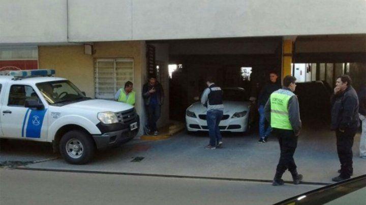 Estacionado. El BMW que fue de Paz y estaba en manos de Villarroel.