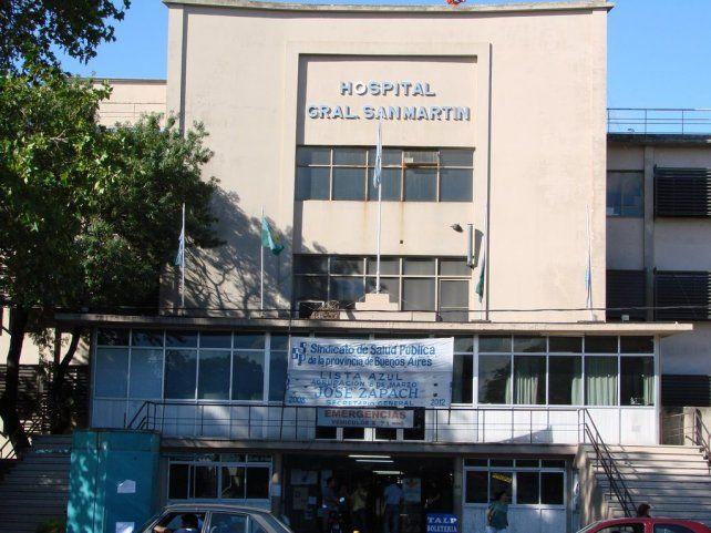 El hospital San Martín donde está internada la víctima