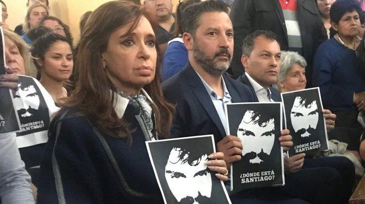 Cristina participó de una misa en reclamo por la aparición de Maldonado.
