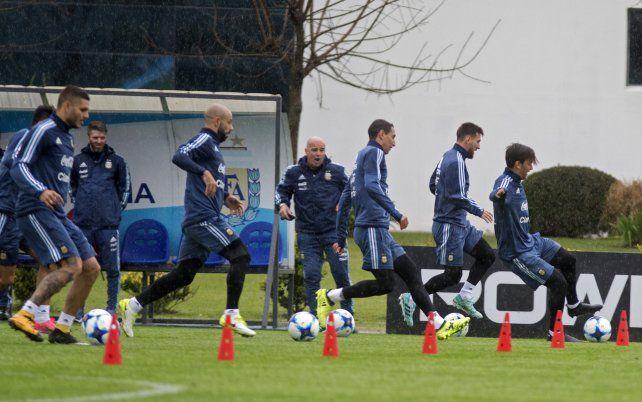 Sampaoli metió mano en el equipo pensando en el partido con Venezuela
