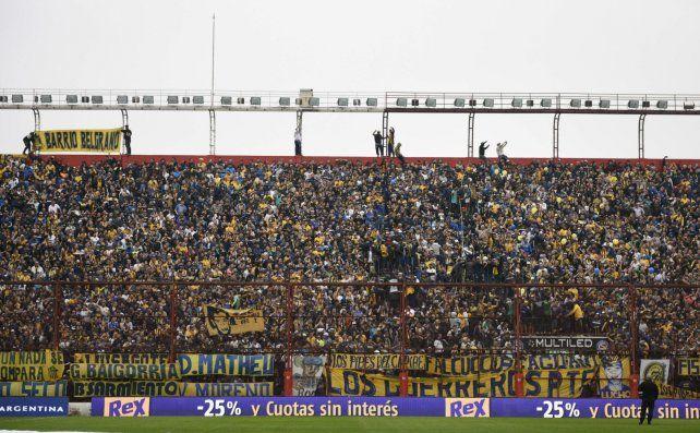 Los hinchas canallas coparon la cancha de Argentinos Juniors.
