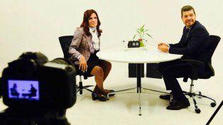 Tinelli bate picos de audiencia con la entrevista a Cristina que publicó en Facebook