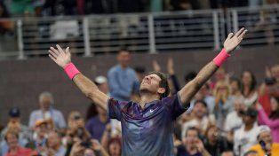 Puro corazón. Un heroico Del Potro alcanzó los cuartos de final del último Grand Slam de la temporada.