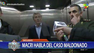 Estamos trabajando y colaborando con la Justicia todo lo posible, dijo Macri sobre el caso Maldonado