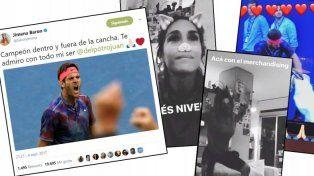 Cómo vivió Jimena Barón las instancias del épico partido que al final ganó Del Potro