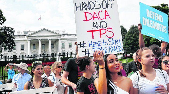 Resistencia. Cientos de jóvenes manifestaron en todo el país contra la suspensión del DACA.
