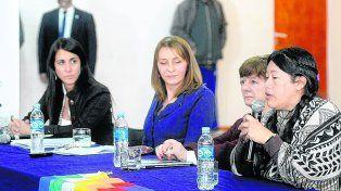 encuentro. La procuradora General de la Nación presidió la charla en el Centro Cultural La Toma.